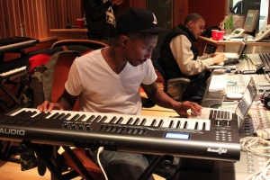 Multi-Platinum Artist and Producer Pharell Williams in the Studio w/ J. Cole